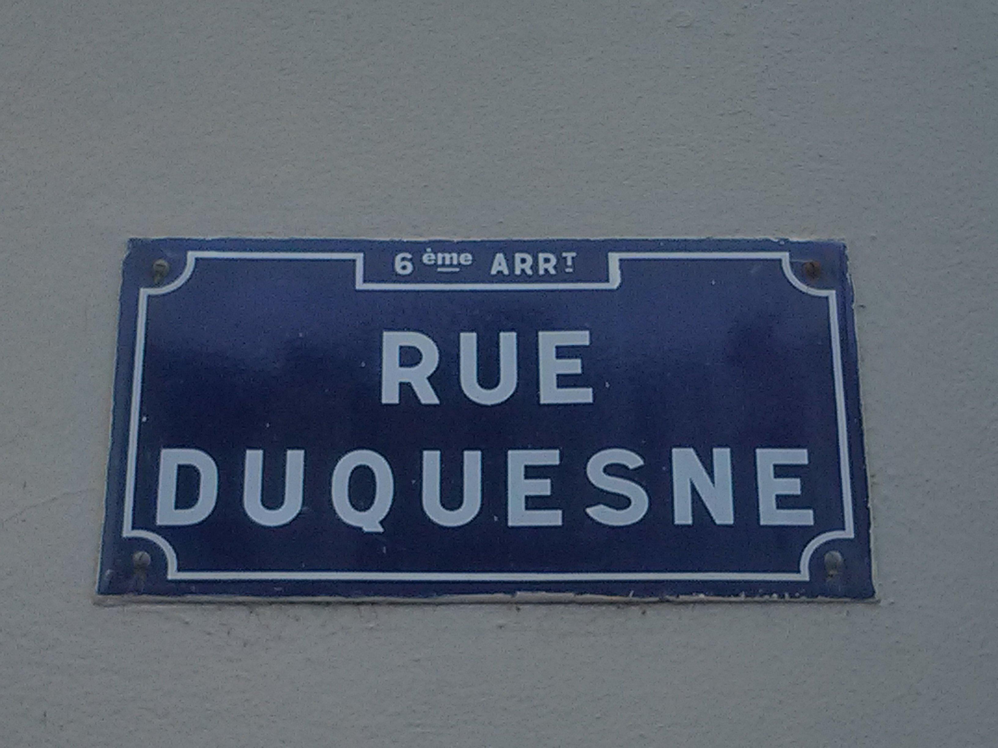 J'admire la Rue Duquesne contrepétrie