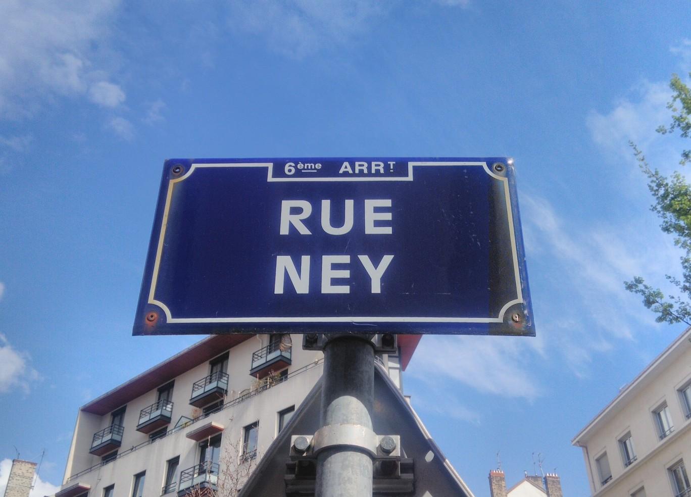 Panneau contrepèterie Rue Ney